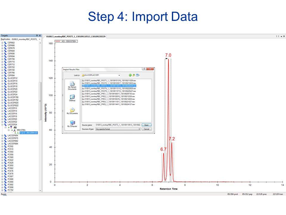 Step 4: Import Data
