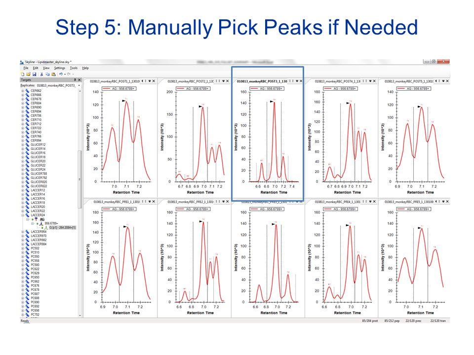 Step 5: Manually Pick Peaks if Needed
