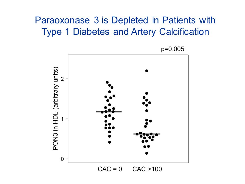 Paraoxonase 3 is Depleted in Patients with Type 1 Diabetes and Artery Calcification