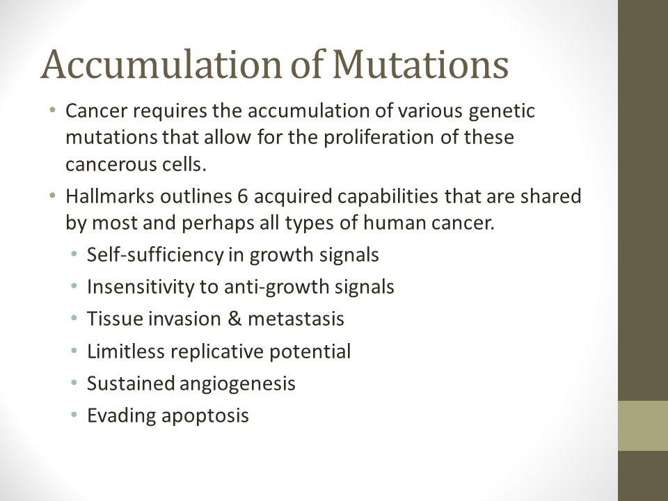 Accumulation of Mutations