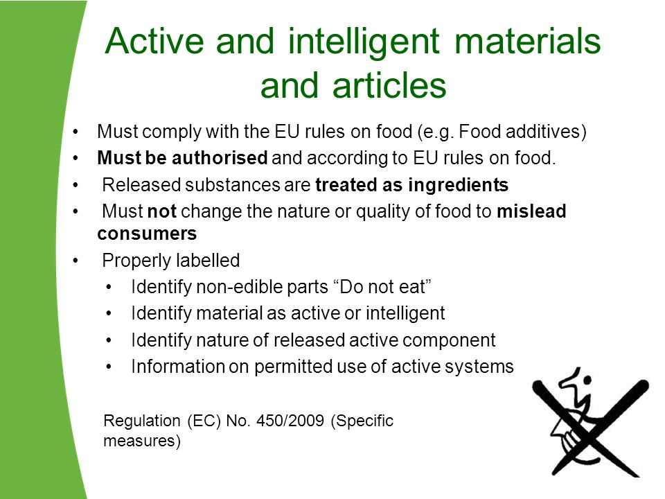 Active and intelligent materials and articles