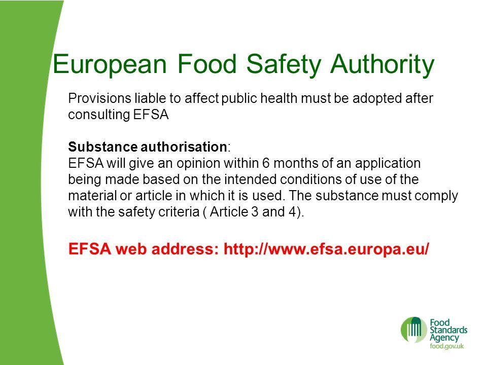European Food Safety Authority