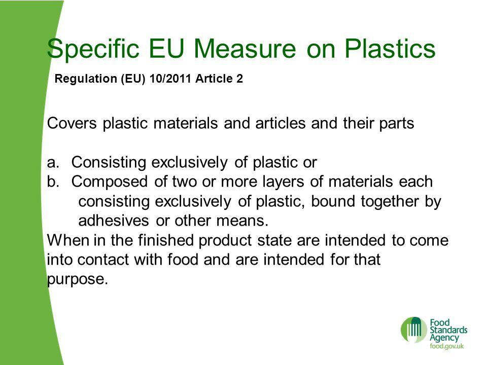 Specific EU Measure on Plastics