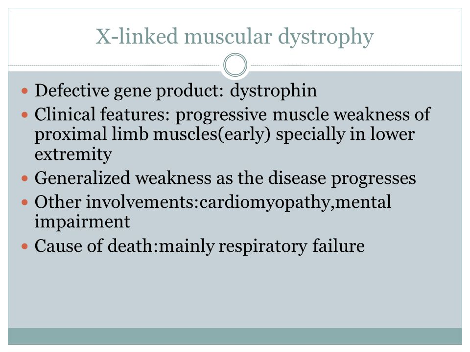 X-linked muscular dystrophy