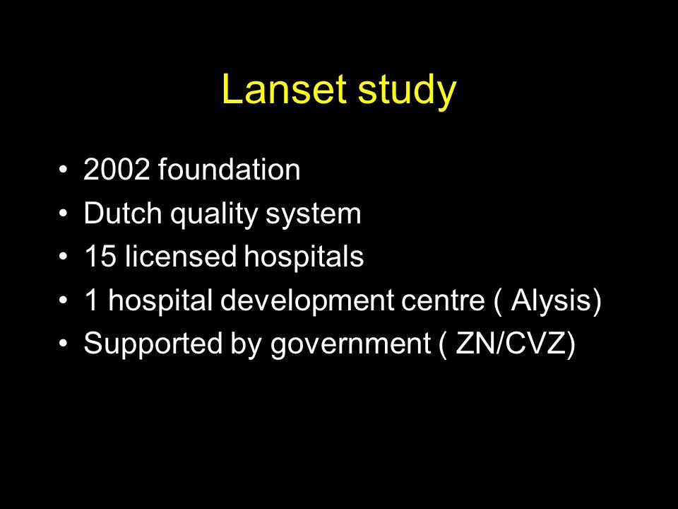 Lanset study 2002 foundation Dutch quality system