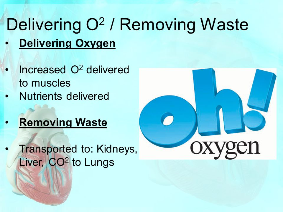 Delivering O2 / Removing Waste