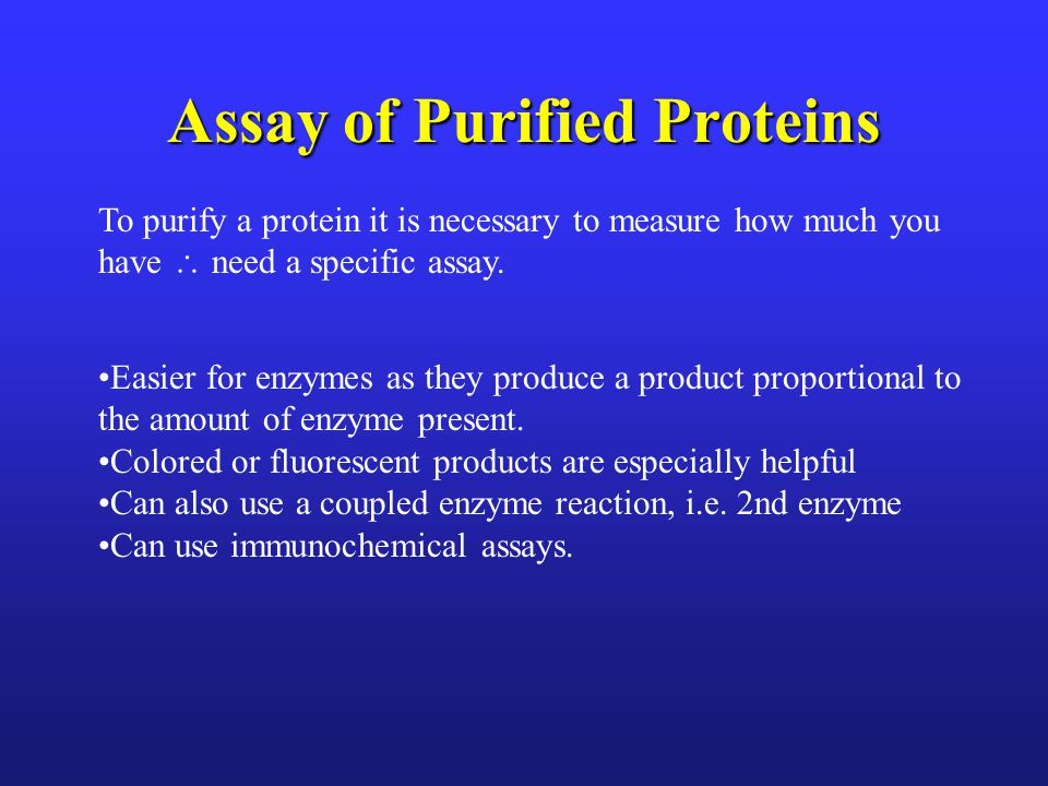 Assay of Purified Proteins
