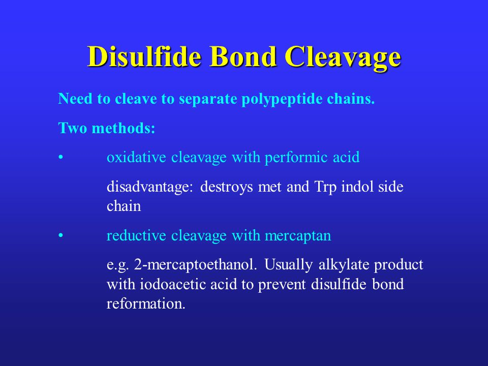 Disulfide Bond Cleavage