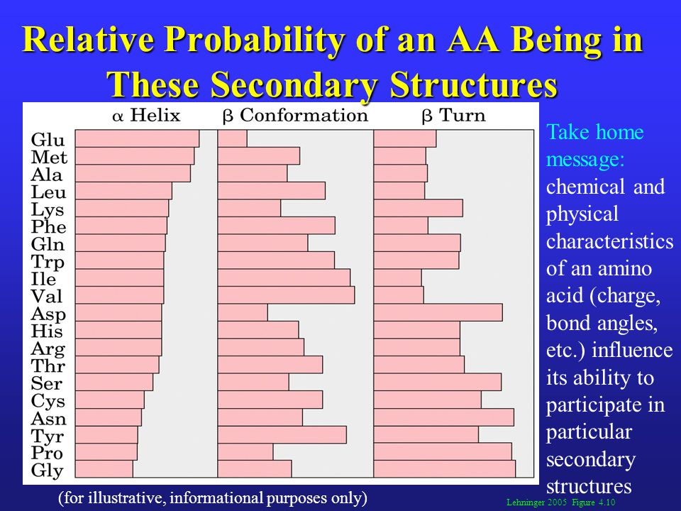 Relative Probability of an AA Being in These Secondary Structures