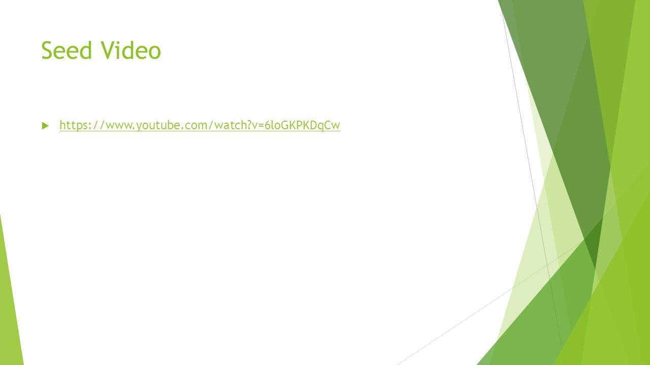 Seed Video https://www.youtube.com/watch v=6loGKPKDqCw