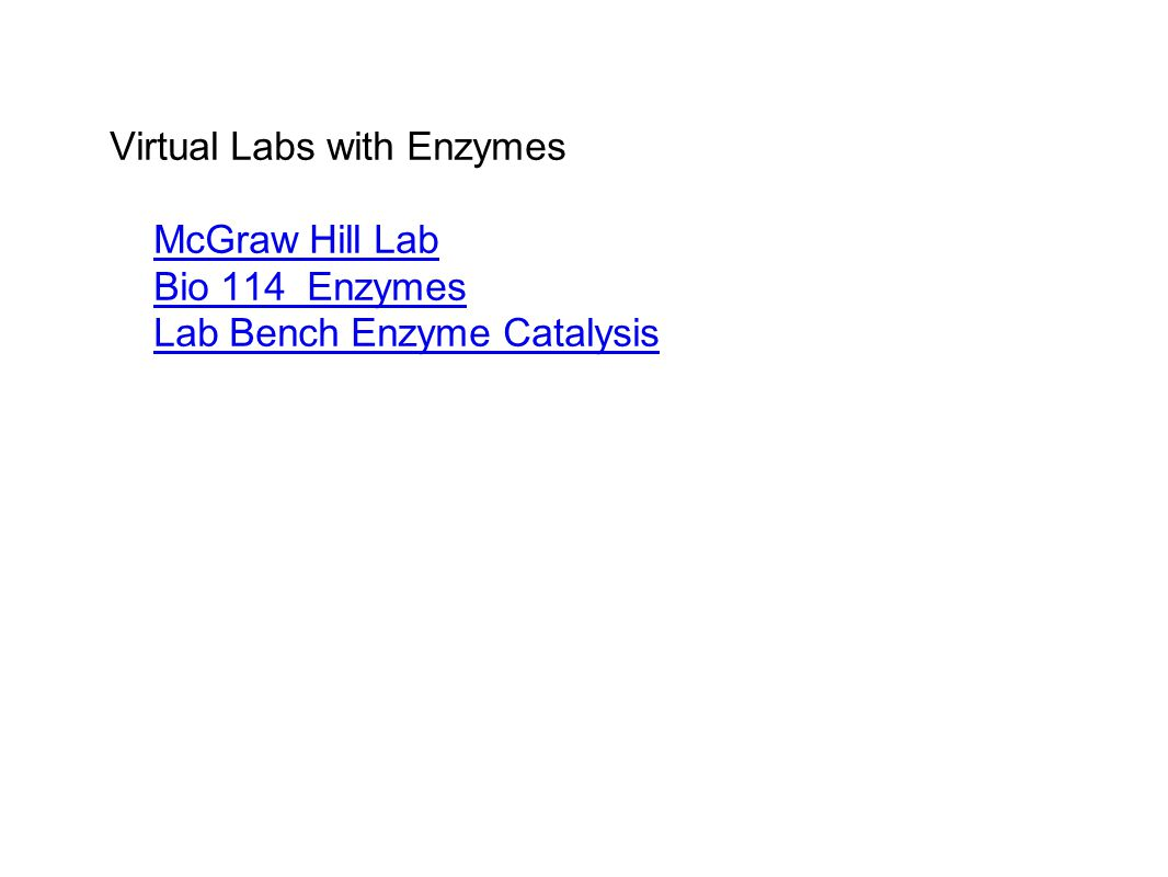 Virtual Labs with Enzymes