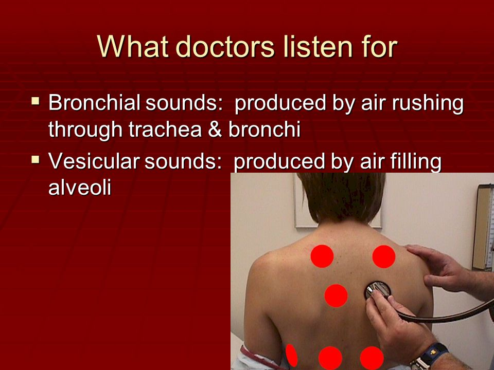 What doctors listen for