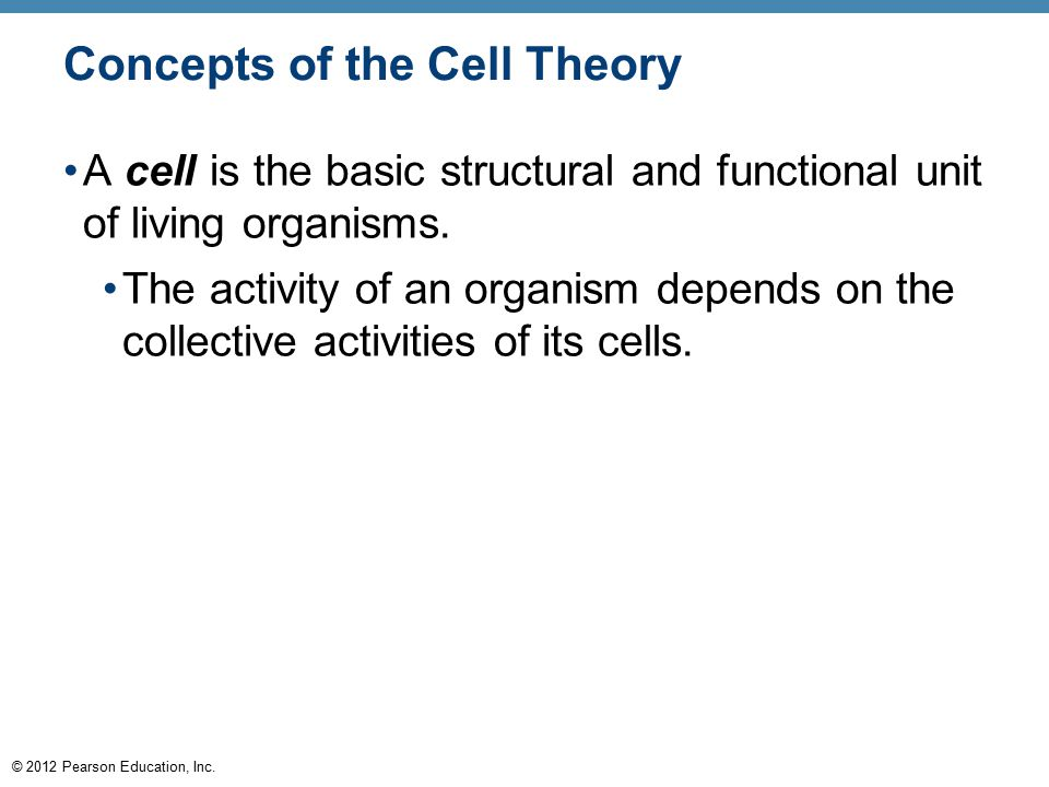 Concepts of the Cell Theory
