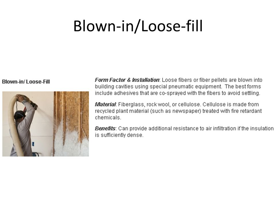Blown-in/Loose-fill