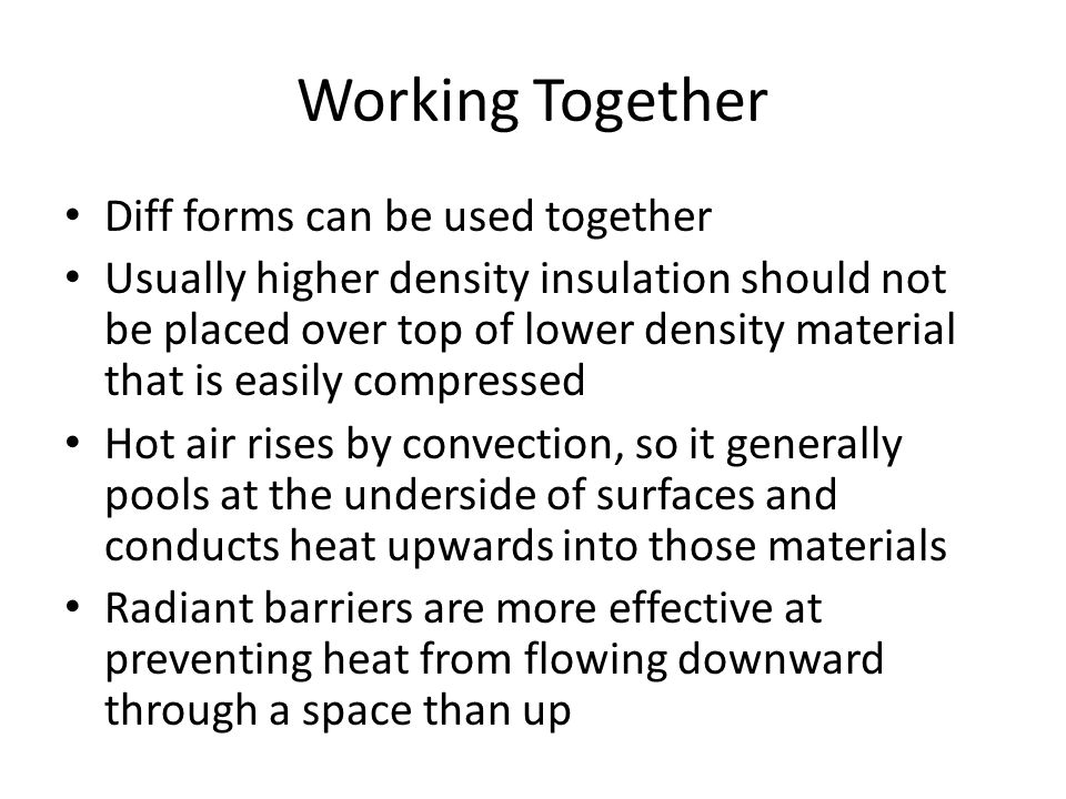 Working Together Diff forms can be used together