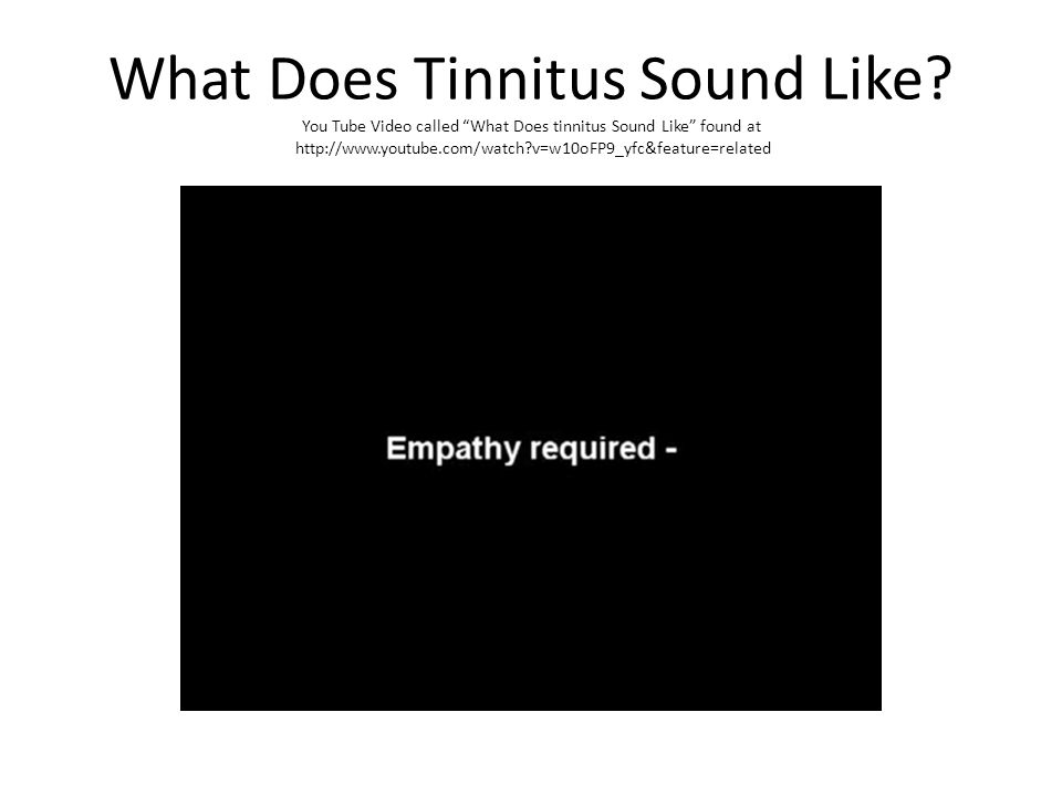 What Does Tinnitus Sound Like