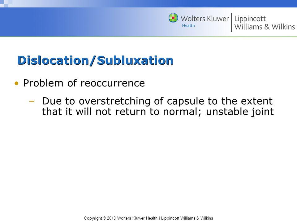 Dislocation/Subluxation