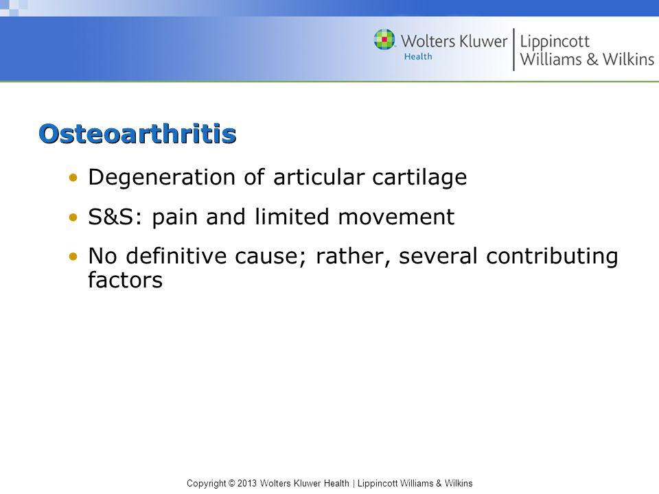 Osteoarthritis Degeneration of articular cartilage