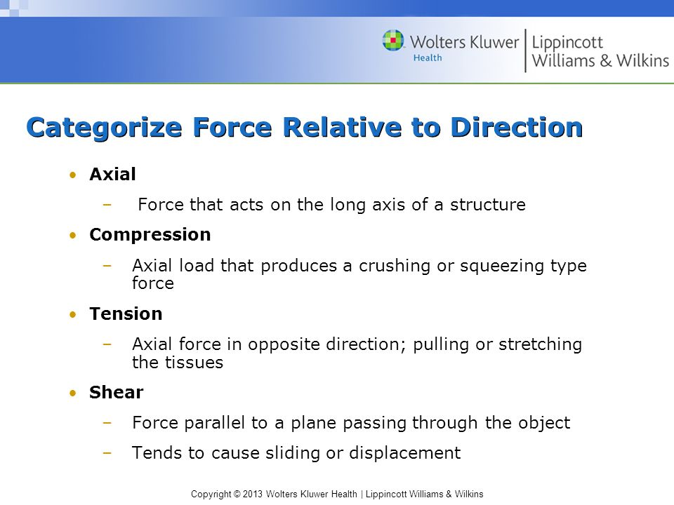 Categorize Force Relative to Direction