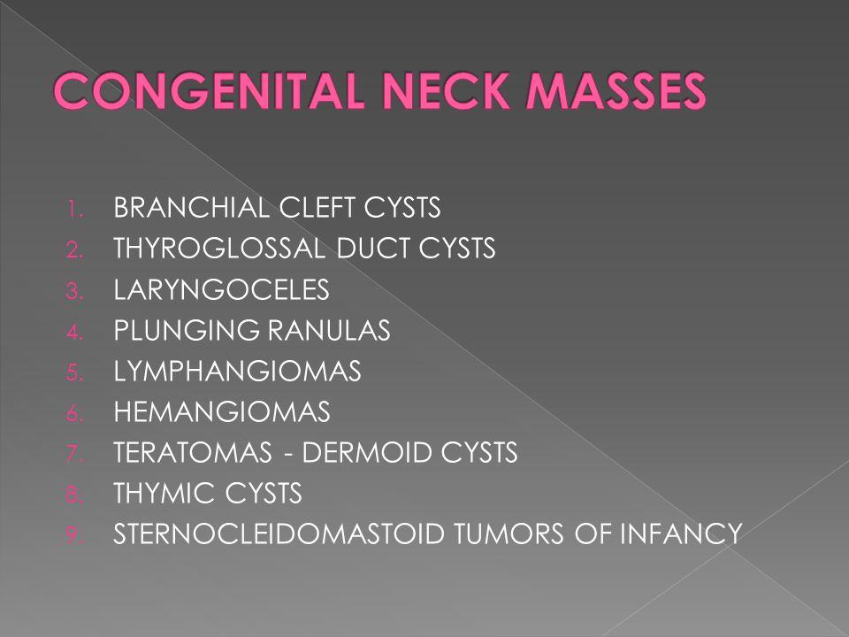 CONGENITAL NECK MASSES