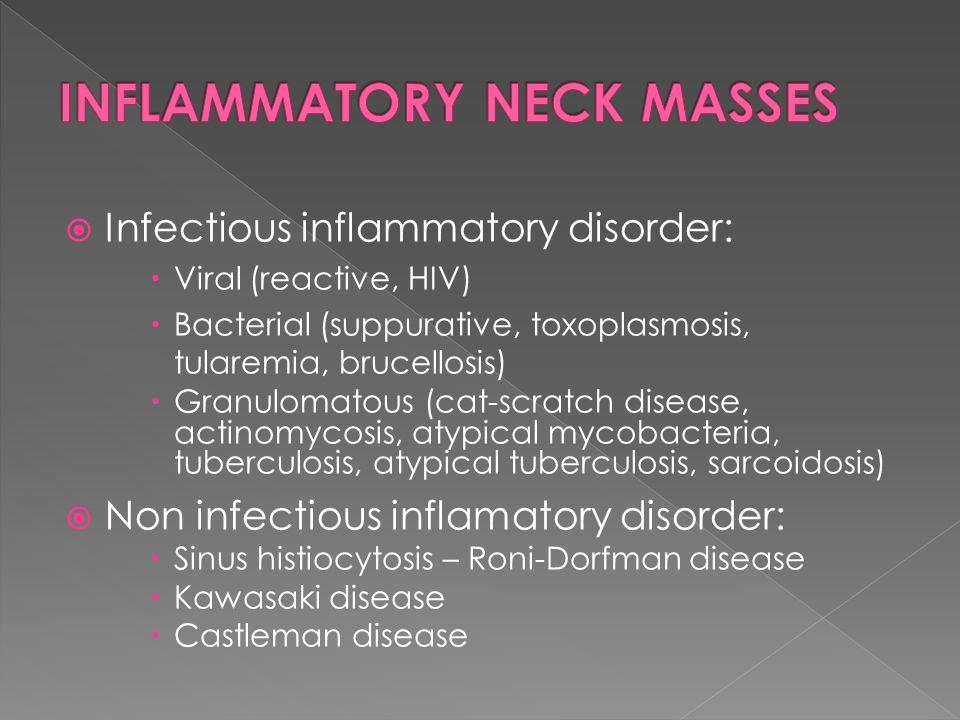 INFLAMMATORY NECK MASSES