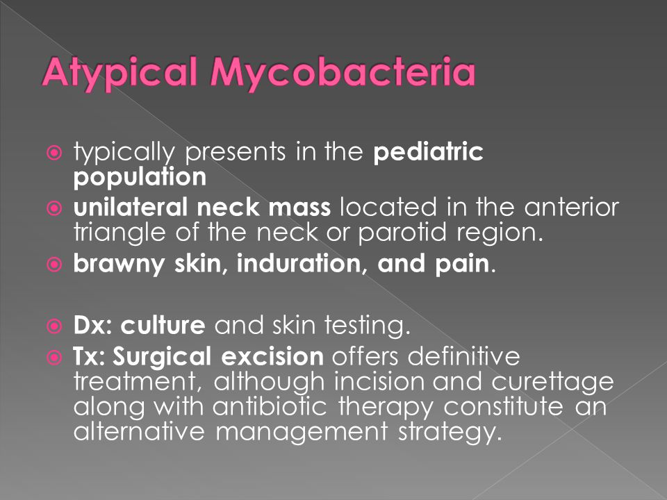 Atypical Mycobacteria