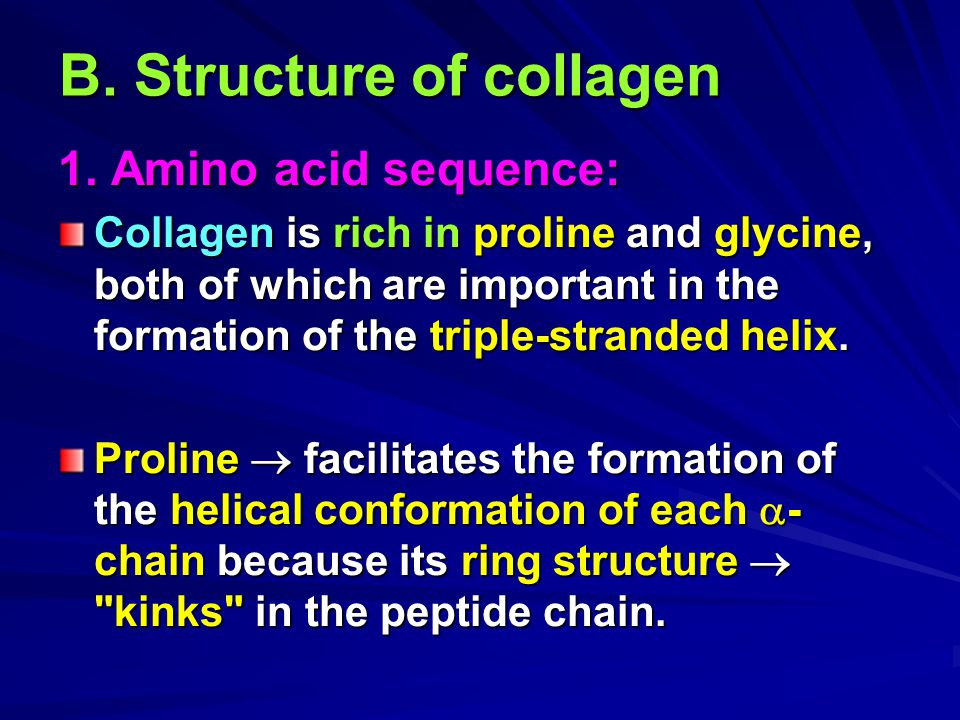B. Structure of collagen