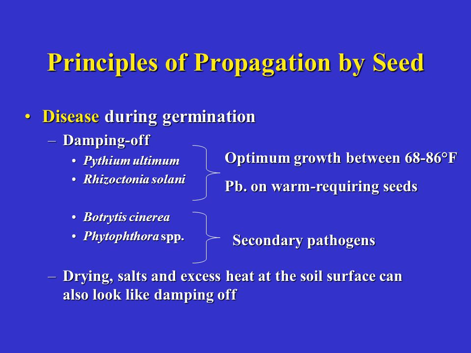 Principles of Propagation by Seed