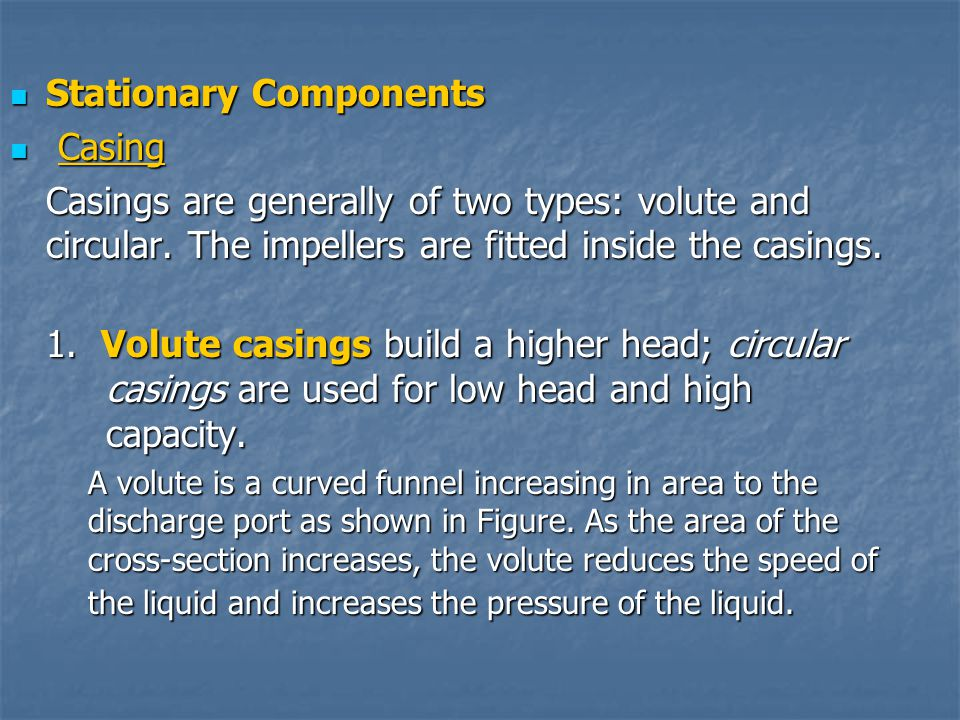 Stationary Components Casing