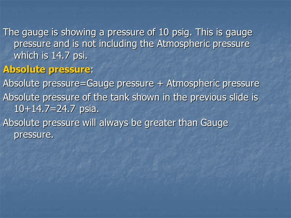 The gauge is showing a pressure of 10 psig