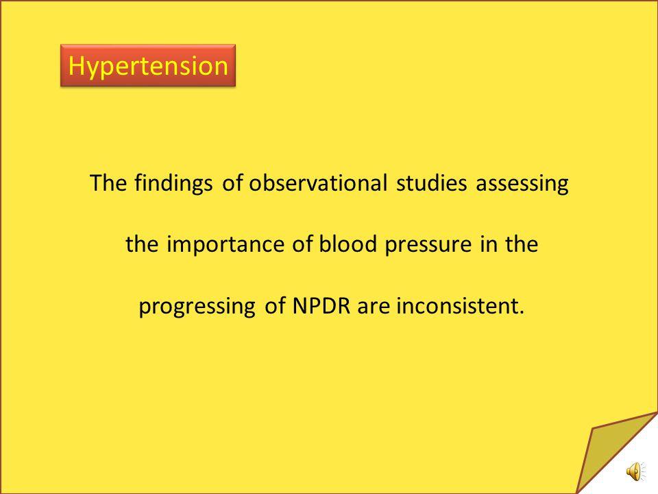 Hypertension The findings of observational studies assessing