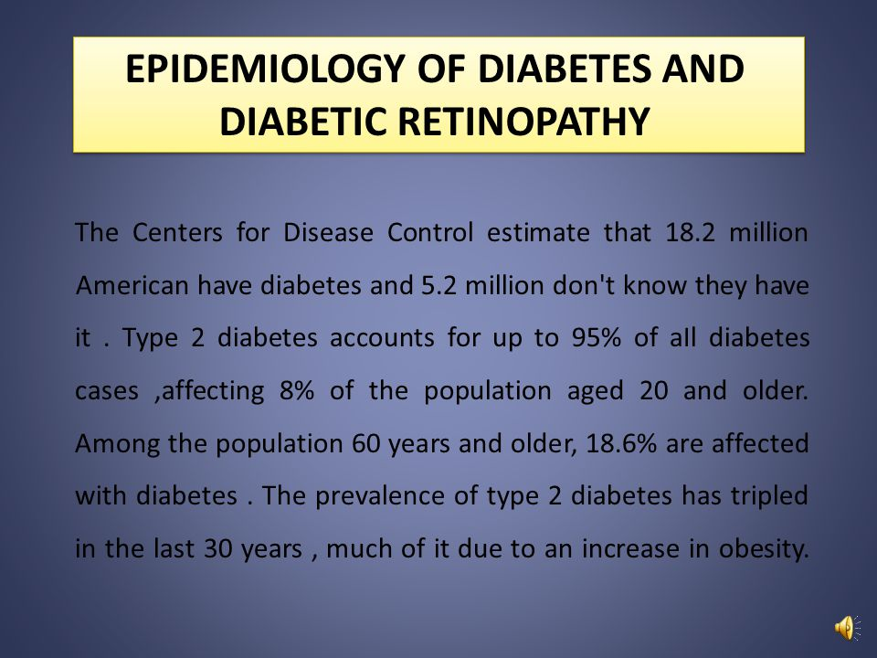 EPIDEMIOLOGY OF DIABETES AND DIABETIC RETINOPATHY