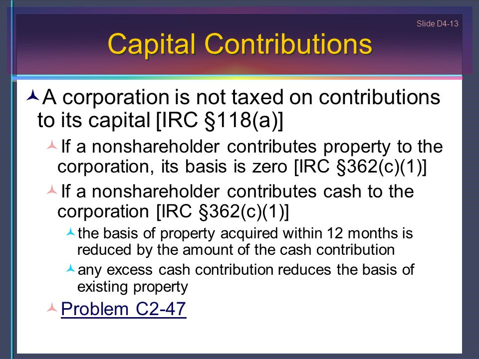 Capital Contributions