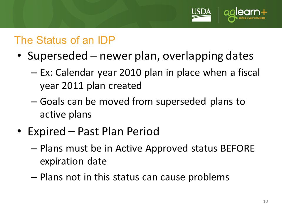 Superseded – newer plan, overlapping dates