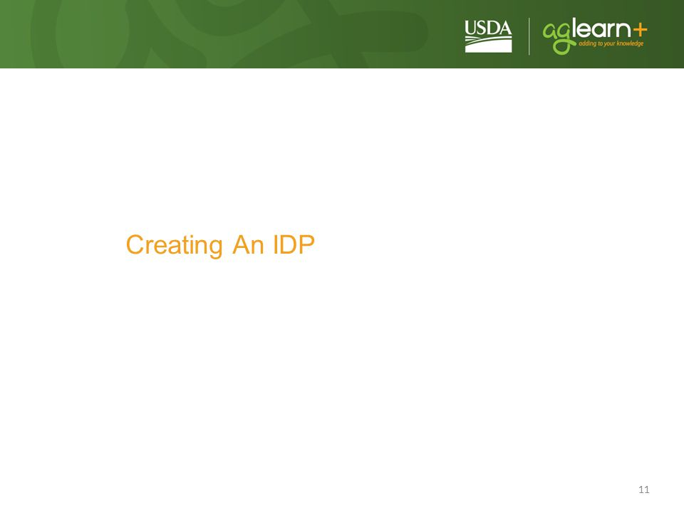 Creating An IDP In this next section, I'll walk you through the steps of creating an IDP, pointing out tips and tricks as I go along.