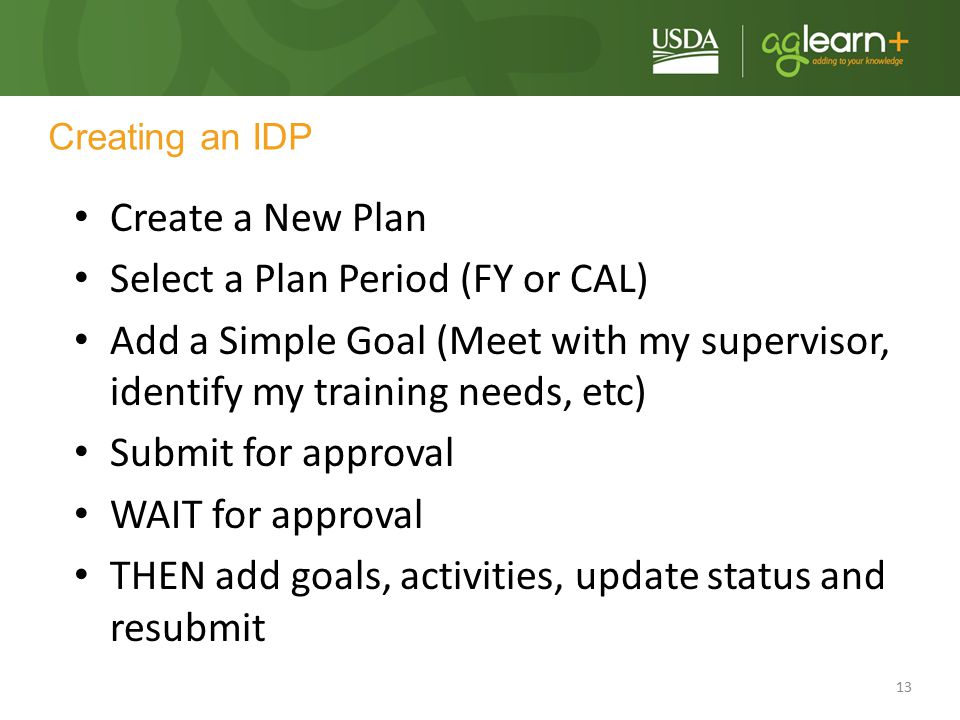 Select a Plan Period (FY or CAL)