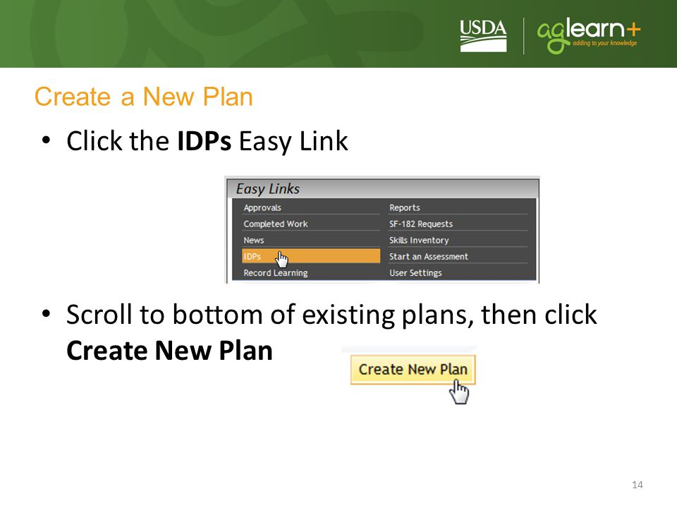 Click the IDPs Easy Link