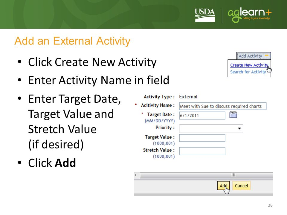 Add an External Activity