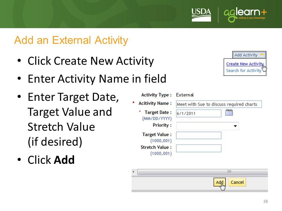 Add an External Activity