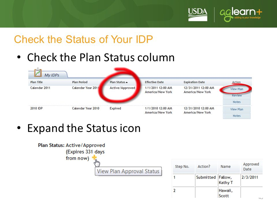 Check the Status of Your IDP