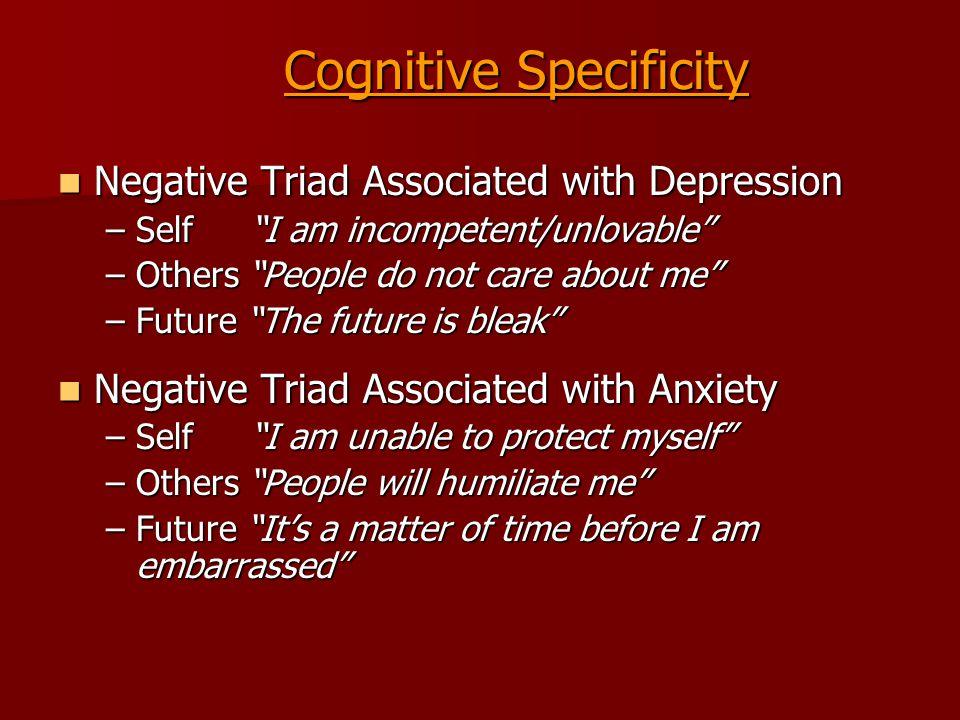 Cognitive Specificity