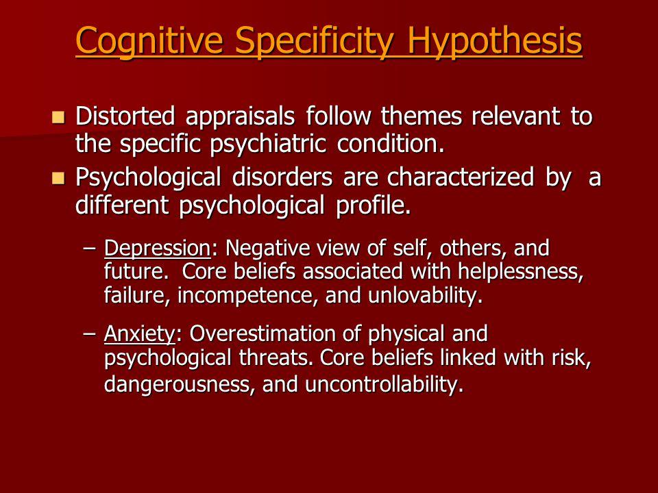 Cognitive Specificity Hypothesis