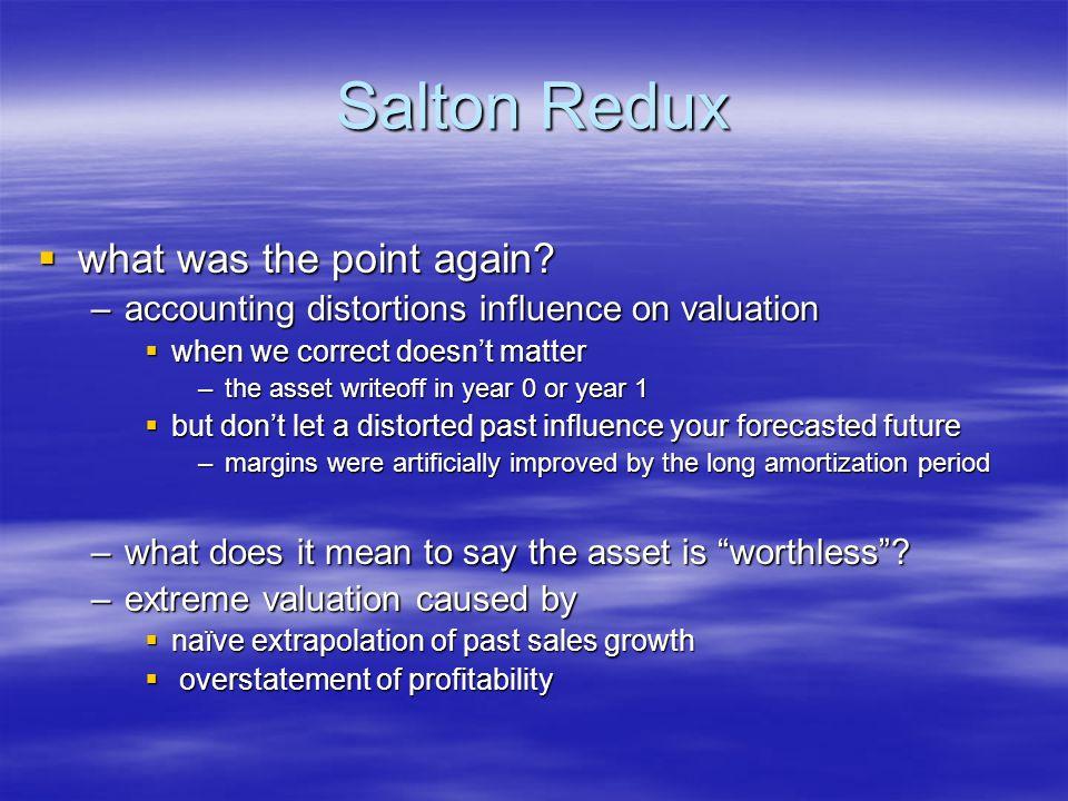 Salton Redux what was the point again