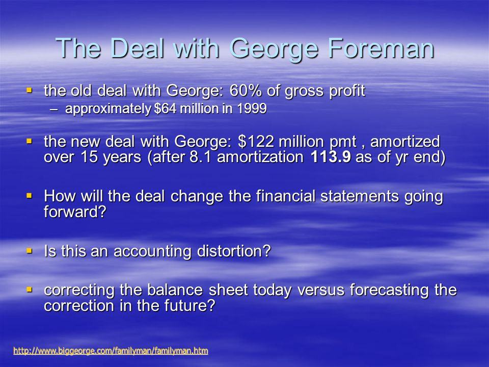 The Deal with George Foreman