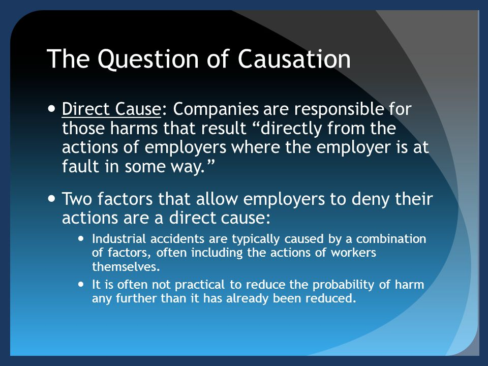 The Question of Causation