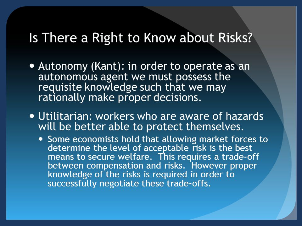 Is There a Right to Know about Risks