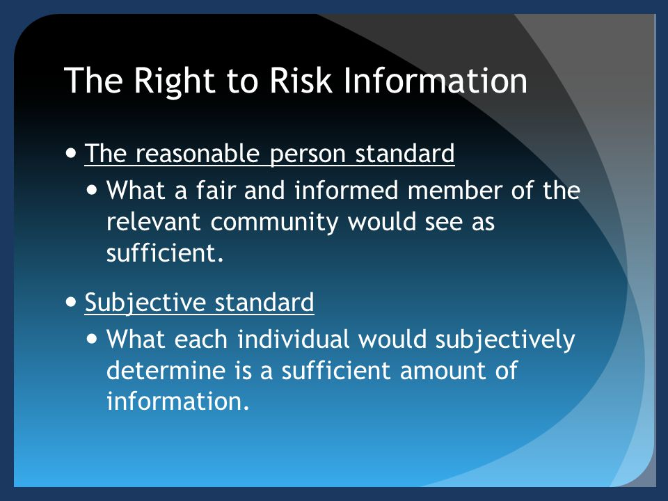 The Right to Risk Information