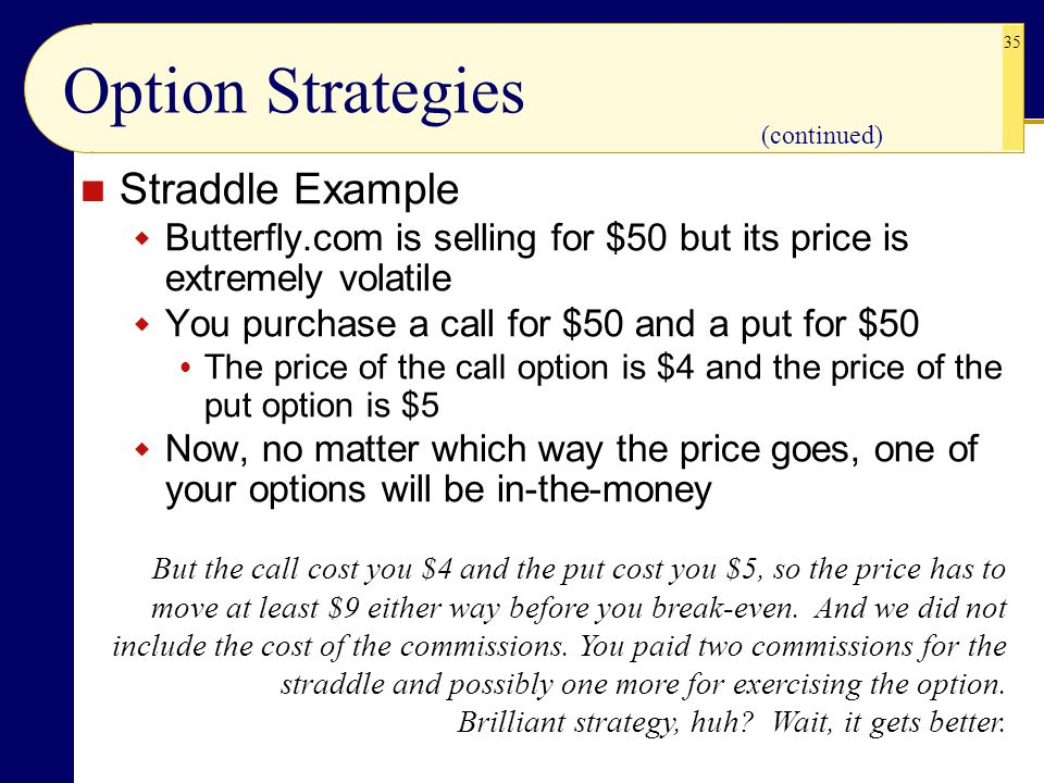 Option Strategies Straddle Example