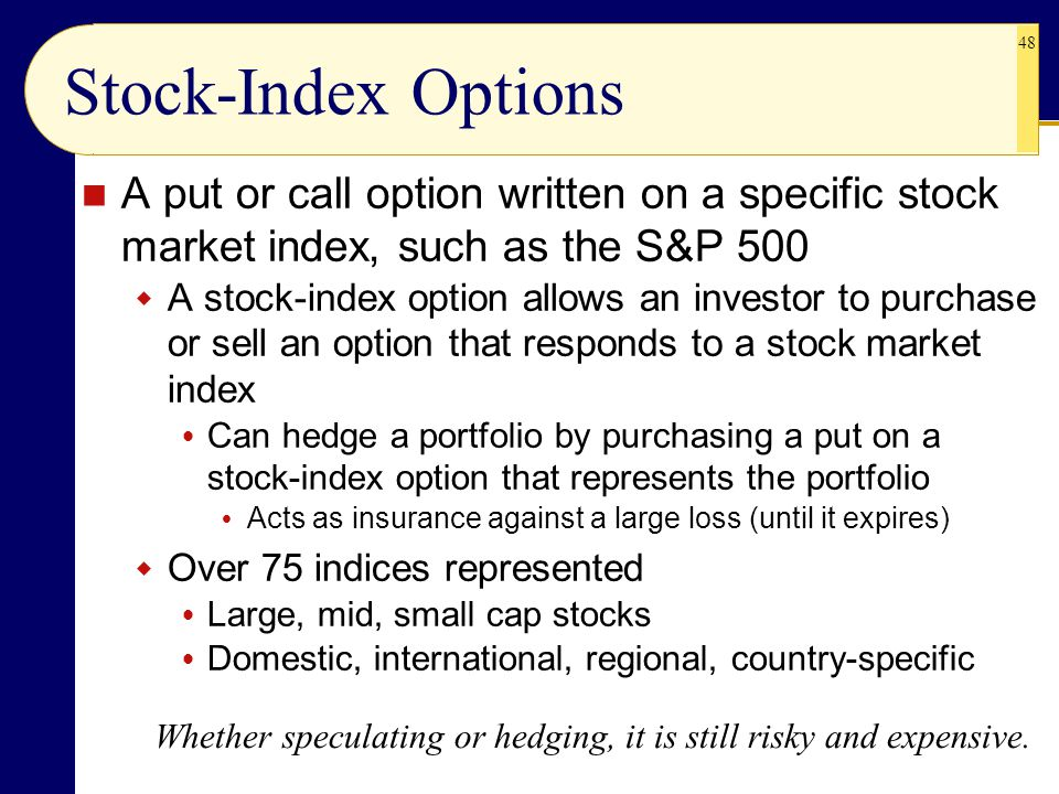 Put options on stock indexes