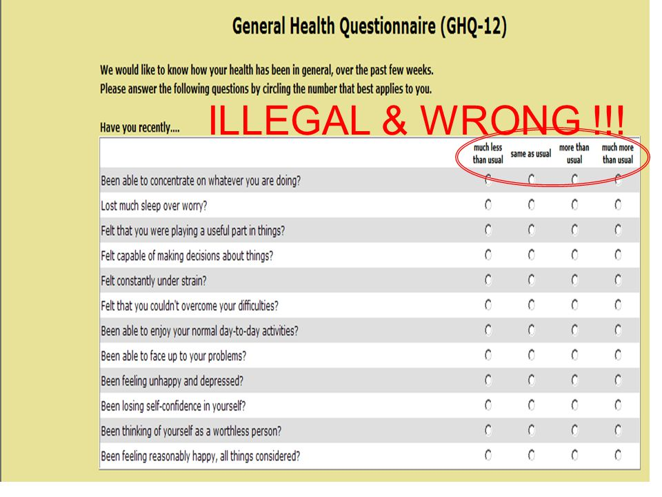 ILLEGAL & WRONG !!!